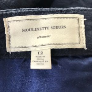 ANTHRO MOULINETTE SOEURS blue laced skirt lined 12